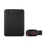 WD Elements Portable 1TB USB 3.0 + SanDisk CruzerBlade 32GB ab 49€ (statt 65€)
