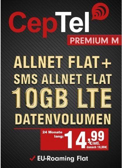 Knaller! o2 Free M mit 10GB LTE für 14,99€ mtl.
