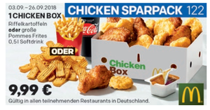 Coupon September chicken-box-menü