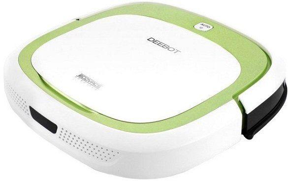 ECOVACS Deebot Slim   Saugroboter optimiert für Tierhaare in weiß/hellgrün für 179€ (statt 239€)