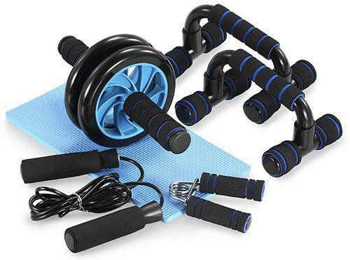 5 in 1 Workout Set mit Bauchtrainer, Springseil, Handtrainer etc für 14,69€ (statt 22€)