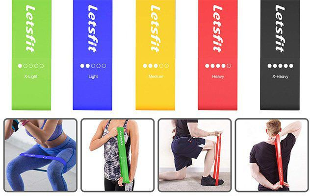 5er Set Fitnessbänder für das Training für 8,39€ (statt 12€)   Prime