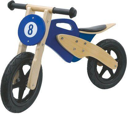 JAMARA Laufrad Holz Roller in blau für 45€ (statt 65€)