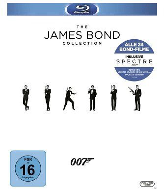 James Bond Collection 2016 auf 25 Blu rays für 79€ (statt 90€)