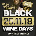 Black Wine Days bei Weinvorteil mit bis zu 70% Rabatt – Weine ab 1,99€ pro Flasche