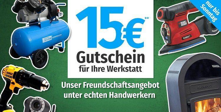 15€ Rabatt auf Produkte der Kategorie Werkstatt (ab 120€ MBW)   z.B. Batavia Thor Multi Tauchsäge inkl. Führungsschiene für 109,95€ (statt 119€)