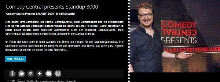 """Freikarten für """"Comedy Central presents Standup 3000"""" im März"""
