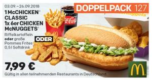 Coupon September mcchicken-und-6er-mcnuggets-doppelpack-menü