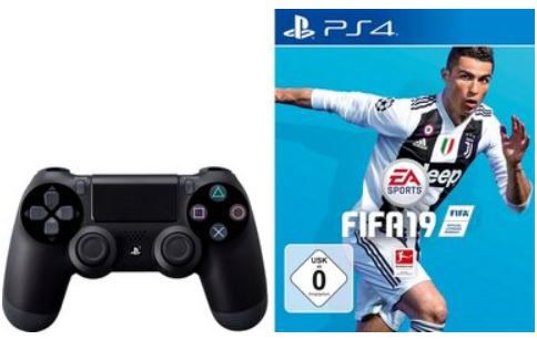 Vorbei! PlayStation 4 mit 500 GB + Wireless DualShock Controller + Fifa 19 ab 129,99€