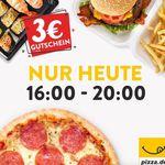 3€ Pizza.de Gutschein mit 8€ MBW – nur per App bis 20Uhr