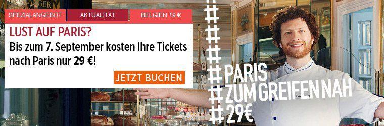 Ab 29€ nach Paris mit der Bahn   im Oktober/November 2018