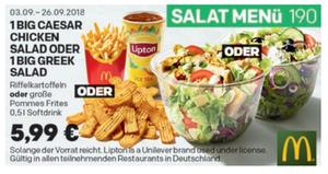Coupon September salat-menue