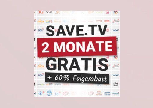 60 Tage Save.TV gratis (anschließend 60% Rabatt auf den regulären Preis)