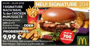Coupon September signature-und-6er-mcnuggets-menü