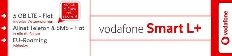 Vodafone Smart L+ mit 5 GB LTE für 36,99€ + 1MORE In Ear Kopfhörer und verschiedene Smartphones ab 4,95€