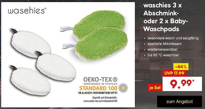 Waschies Abschmink Pads 3er Set 12,5x8cm oder Baby Pads ab je 9,99€