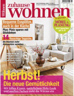 Zuhause wohnen Halbjahres Abo für 11,50€ (statt 21,50€) + 4 Schiefer Servierplatten +  Untersetzer   Top!