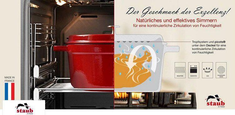 staub Sale bei Vente Privee   z.B. Gusseisen Schmortöpfe ab 79,99€