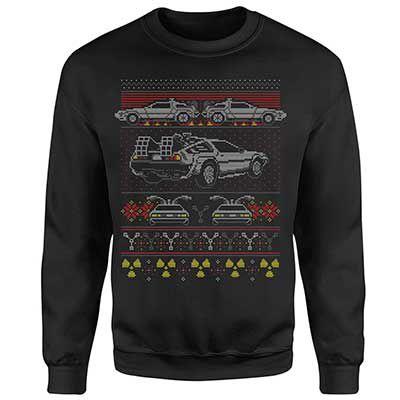 Zurück in die Zukunft Delorean Weihnachtspullover (S   XXL) für 20,99€ (statt 33€)