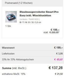 Knaller! Philips Smart Pro Easy   Staubsaugerroboter mit Wischfunktion für 137,28€ (statt 275€)