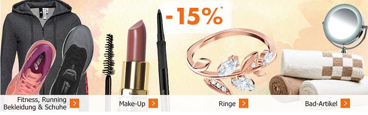 Karstadt Sonntags Kracher mit 20% auf Damenmode oder 15% auf Make Up, Fitnessbekleidung und Bad Artikel