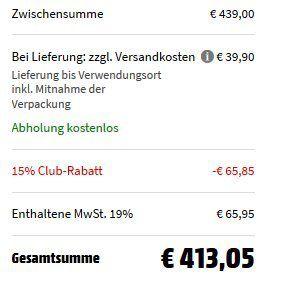 Bosch WAN28231 Waschmaschine (7.0 kg, 1390 U/Min., A+++) für 413,05€ (statt 529€)