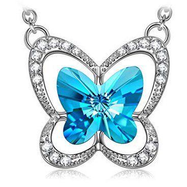 Susan Y Damenhalskette Frühlingspoesie Schmetterling für 9,99€ (statt 22€)