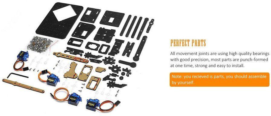 DIY Set Roboterarm mit viel Zubehör für 32,58€