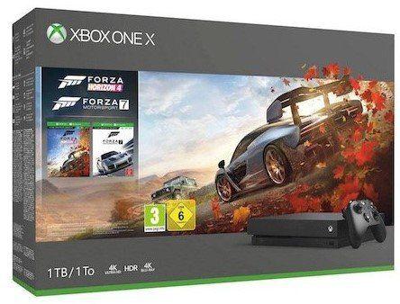 XBox One X 1TB Konsole + Forza Motorsport 7 + Forza Horizon 4 für 379€ (statt 449€)