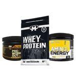 Mammut Whey Protein Lemon Cheesecake (1000g, MHD: 30.11.2018) + Energy- & Amino-Booster für 15,60€ (statt 27€)