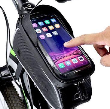 Wasserfeste Fahrradtasche für Geräte bis zu 6,5 Zoll für 9,99€   Prime