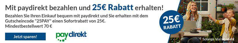 25€ Rabatt ab 70€ MBW auf fast alles bei Alternate mit Paydirekt Zahlung