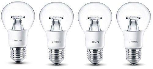 4er Pack Philips LED Glühbirne (ersetzt 40 W) warmweiß für 9,89€ (statt 16€)