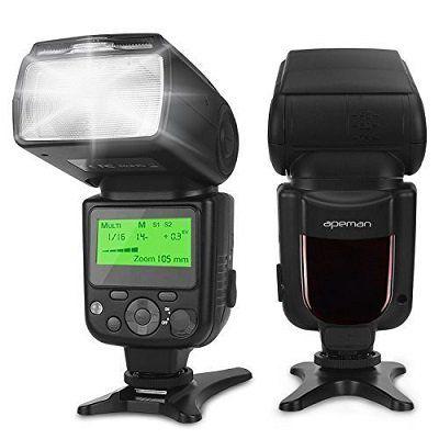 apeman Speedlite Blitzlicht Aufsatz für verschiedene DSLR Kameras für 29,99€ (statt 40€)