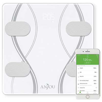 AJ PHA004   Körperfettwaage mit App Anbindung für 18,99€ (statt 29€)