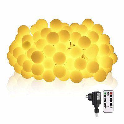 Lichterkette mit 100 LEDs in Glühbirnenform für 11,49€ (statt 23€)