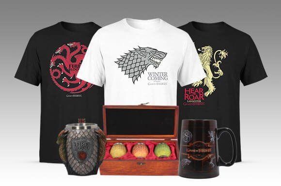 Game of Thrones Sets wie z.B. Eiserner Thron Bierkrug + T Shirt für 54,98€ (statt 67€)