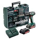 Metabo Akku-Bohrschrauber BS 18 Set 18V mit 2×2.0 Ah Akkus für 129,95€ (statt 147€)