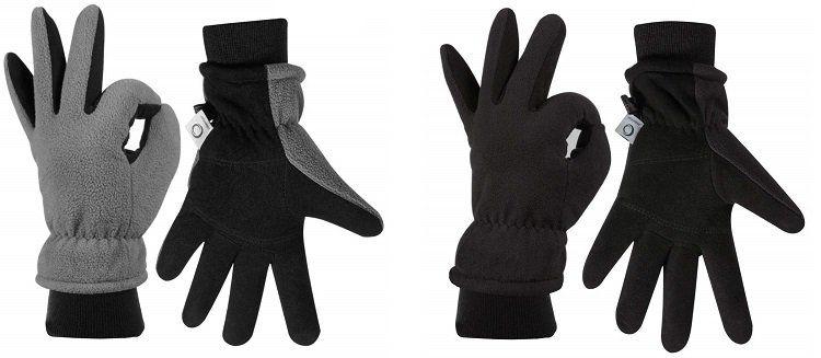 CCBETTER Winterhandschuhe aus Hirschleder in Schwarz oder Grau für 9,99€ (statt 18€)