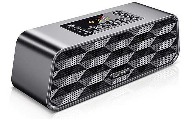 Sumgott SYJ002   portabler Bluetooth Lautsprecher mit FM Funktion für 16,99€ (statt 34€)