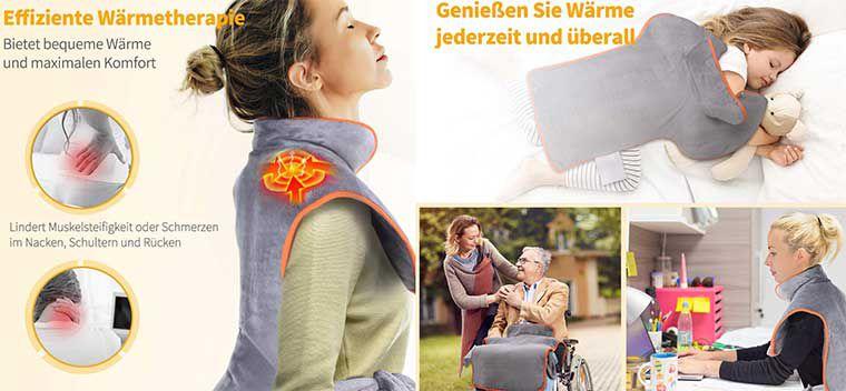 OMORC Heizkissen für Hals, Schulter & Rückenbereich für 25,99€ (statt 43€)
