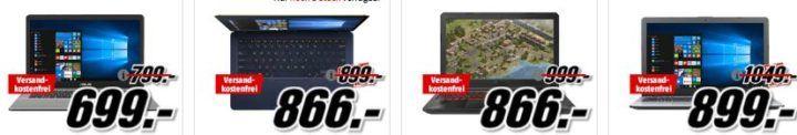 Media Markt Asus Tiefpreisspätschicht: günstige Notebooks, Convertibles und Monitore