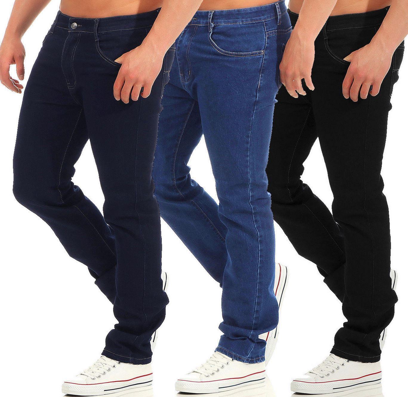 Azuonda Herren Jeans Denim Regular Straight für je 19,90€