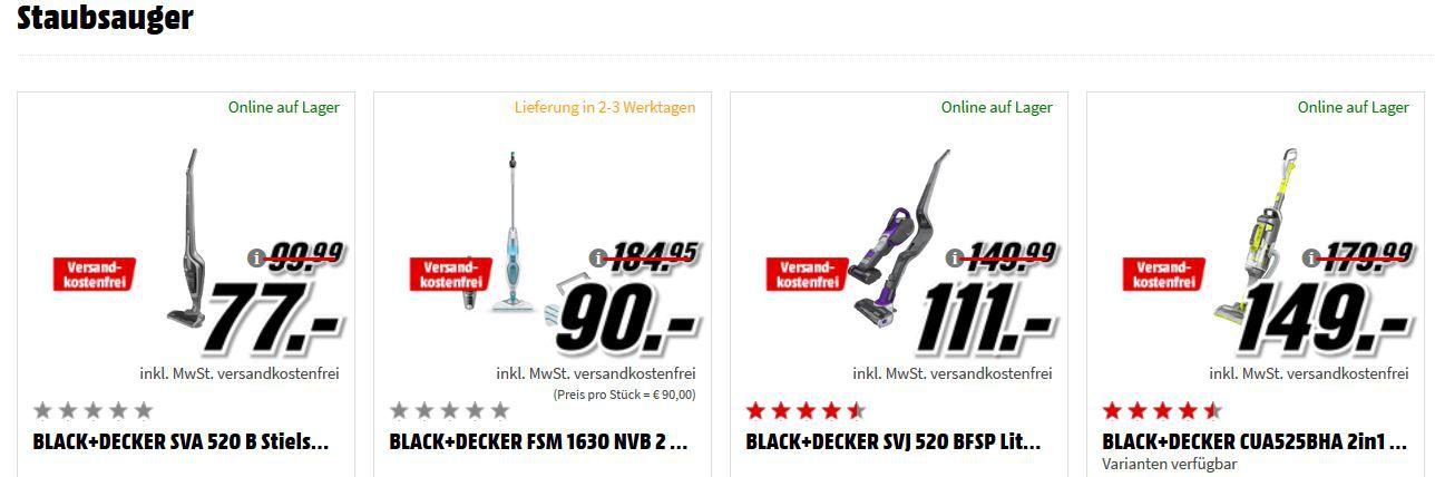 Black & Decker Tiefpreisspätschicht: z. B. BLACK+DECKER AS36LC Akku Schrauber + 11 tlg. Zubehör Set für 25€ (statt 55€)