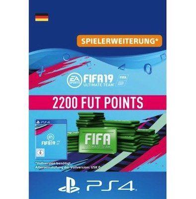 500 FIFA 19 Ultimate Team Points für 4,49€   1.600 Punkte für 13,49€ oder 2.200 Punkte für 17,99€