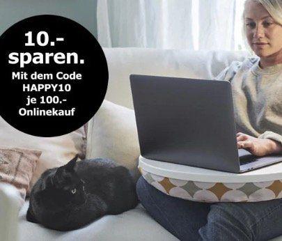 Gutscheinfehler bei IKEA: 10% Rabatt statt 10€ je 100€ MBW   nur heute!