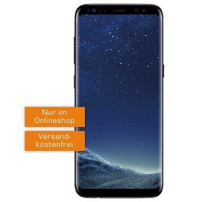 Samsung Galaxy S8 für 29€ + o2 Allnet Flat mit 3GB LTE für 14,99€ mtl.