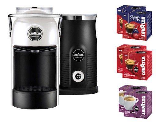 Lavazza Jolie & Milk Kapselmaschine inkl. 6 Pakete Kaffee für 84,99€ (statt 130€)