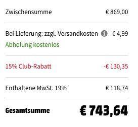 Siemens EQ.6 plus s700 TE657509DE Kaffeevollautomat für 743,64€ (statt 899€)
