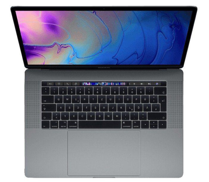 Apple MacBook Pro 15 2018 (MR932D/A) mit 256GB + Radeon Pro 555X für 2.259€ (statt 2.343€)